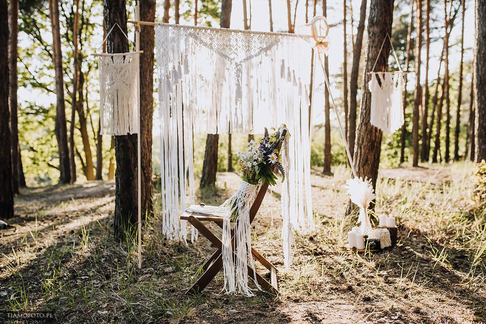 sesja slubna boho diy makrama fotograf Poznan TiAmoFoto 1 - DIY BOHO - sesja ślubna z makramą w tle