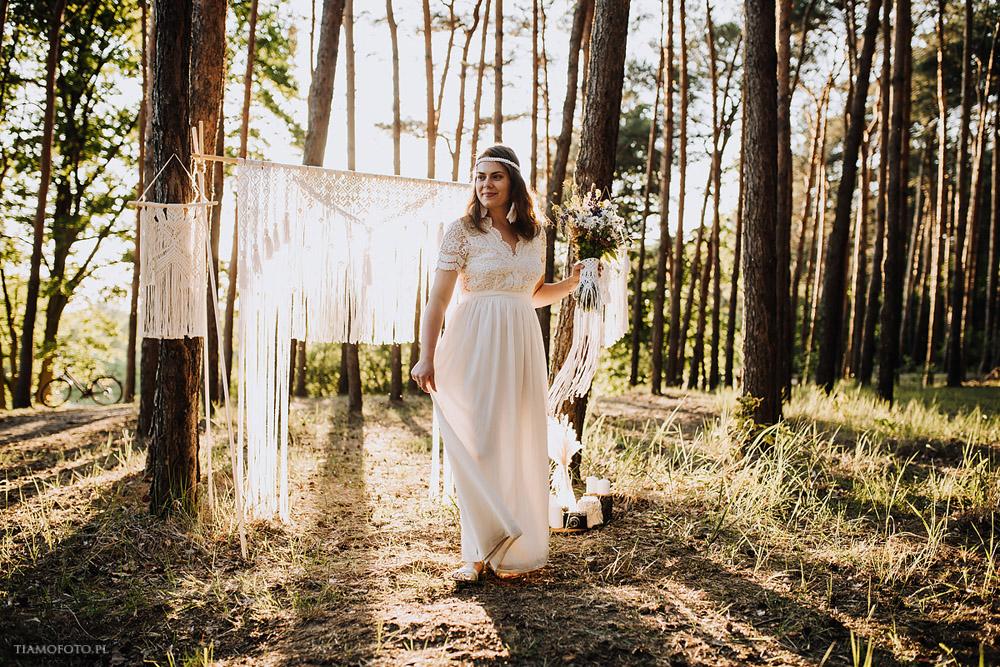 sesja slubna boho diy makrama fotograf Poznan TiAmoFoto 10 - DIY BOHO - sesja ślubna z makramą w tle