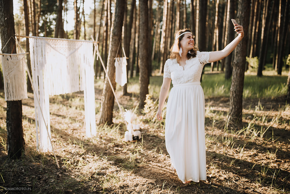 sesja slubna boho diy makrama fotograf Poznan TiAmoFoto 13 - DIY BOHO - sesja ślubna z makramą w tle