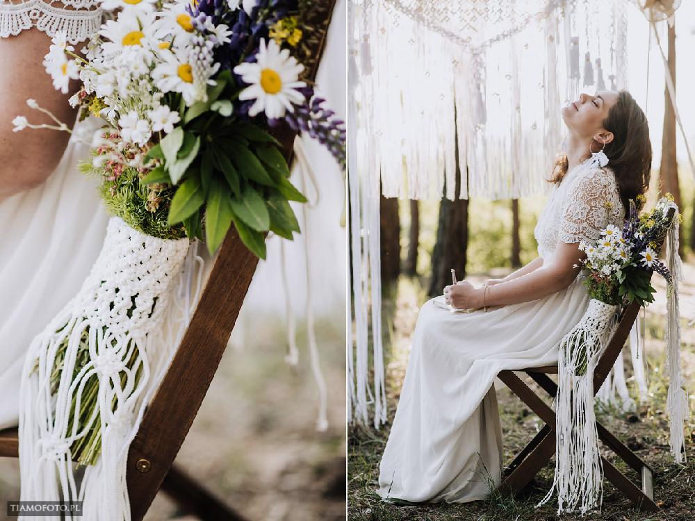 sesja slubna boho diy makrama fotograf Poznan TiAmoFoto 15 - DIY BOHO - sesja ślubna z makramą w tle