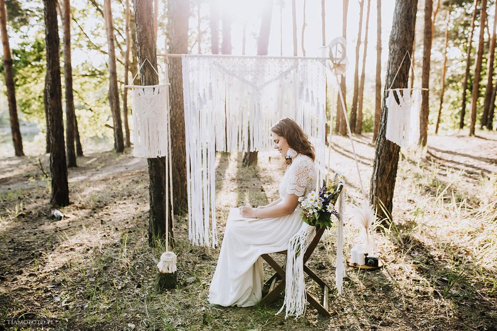 sesja slubna boho diy makrama fotograf Poznan TiAmoFoto 16 - DIY BOHO - sesja ślubna z makramą w tle