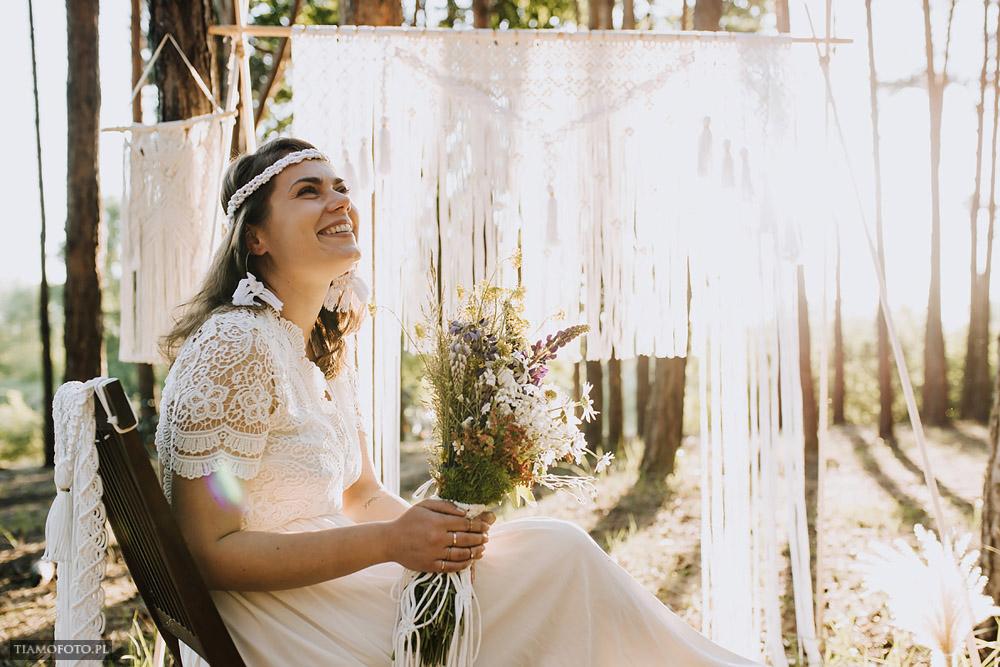 sesja slubna boho diy makrama fotograf Poznan TiAmoFoto 24 - DIY BOHO - sesja ślubna z makramą w tle