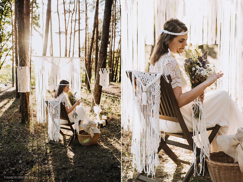 sesja slubna boho diy makrama fotograf Poznan TiAmoFoto 27 - DIY BOHO - sesja ślubna z makramą w tle