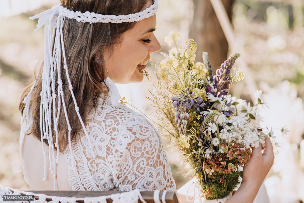 sesja slubna boho diy makrama fotograf Poznan TiAmoFoto 28 - DIY BOHO - sesja ślubna z makramą w tle
