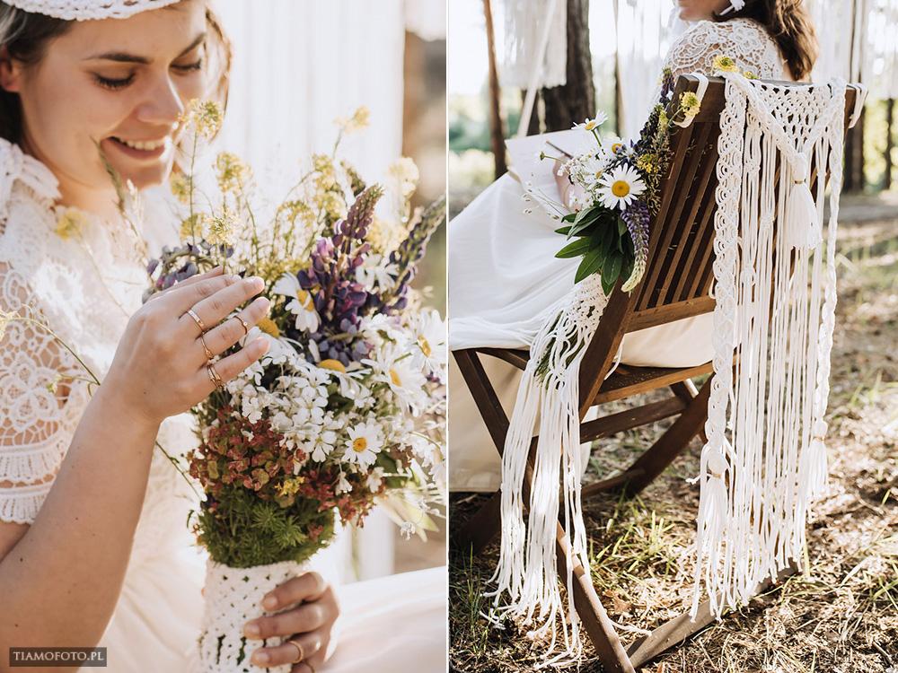sesja slubna boho diy makrama fotograf Poznan TiAmoFoto 29 - DIY BOHO - sesja ślubna z makramą w tle