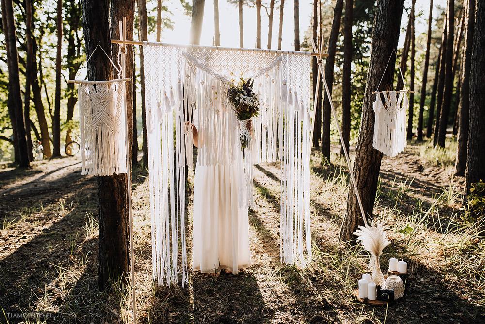 sesja slubna boho diy makrama fotograf Poznan TiAmoFoto 3 - DIY BOHO - sesja ślubna z makramą w tle
