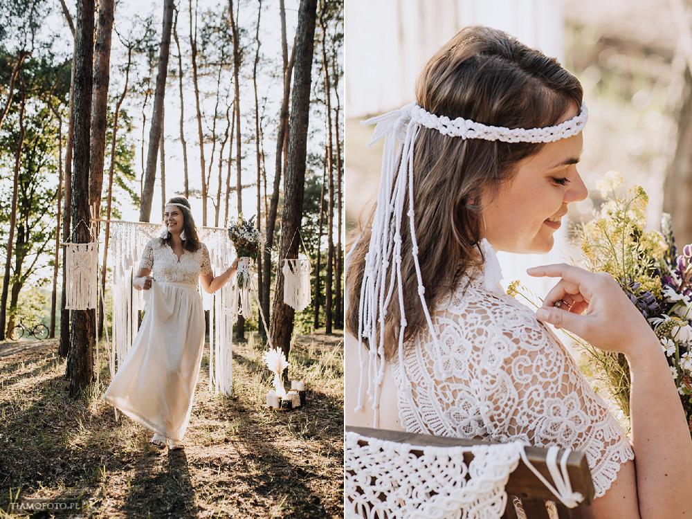 sesja slubna boho diy makrama fotograf Poznan TiAmoFoto 31 - DIY BOHO - sesja ślubna z makramą w tle