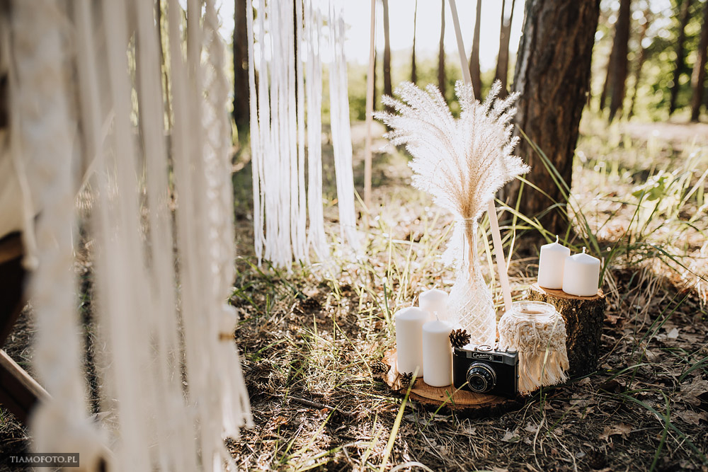 sesja slubna boho diy makrama fotograf Poznan TiAmoFoto 4 - DIY BOHO - sesja ślubna z makramą w tle