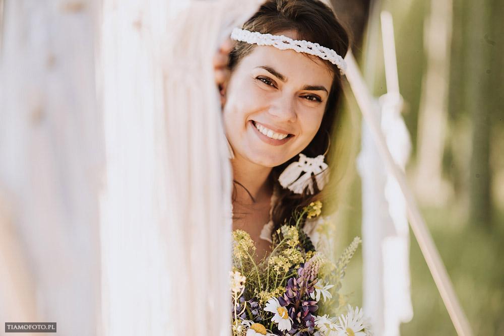 sesja slubna boho diy makrama fotograf Poznan TiAmoFoto 6 - DIY BOHO - sesja ślubna z makramą w tle
