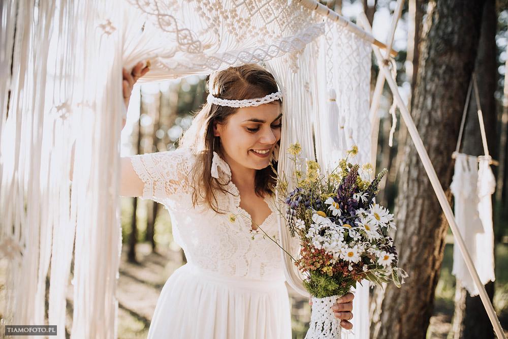 sesja slubna boho diy makrama fotograf Poznan TiAmoFoto 7 - DIY BOHO - sesja ślubna z makramą w tle