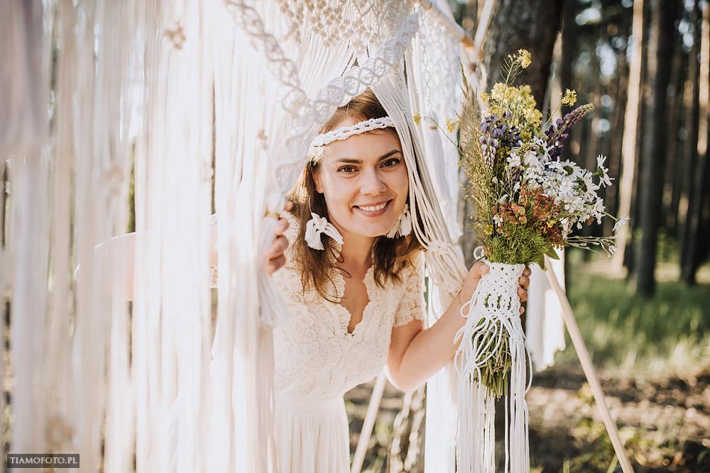 sesja slubna boho diy makrama fotograf Poznan TiAmoFoto 8 - DIY BOHO - sesja ślubna z makramą w tle