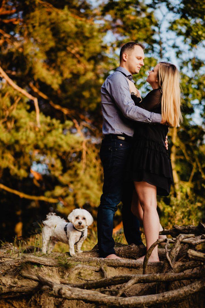 JT sesja narzeczenska las jezioro pies maltanczyk Poznan TiAmoFoto 31 721x1080 - Joanna i Tomasz